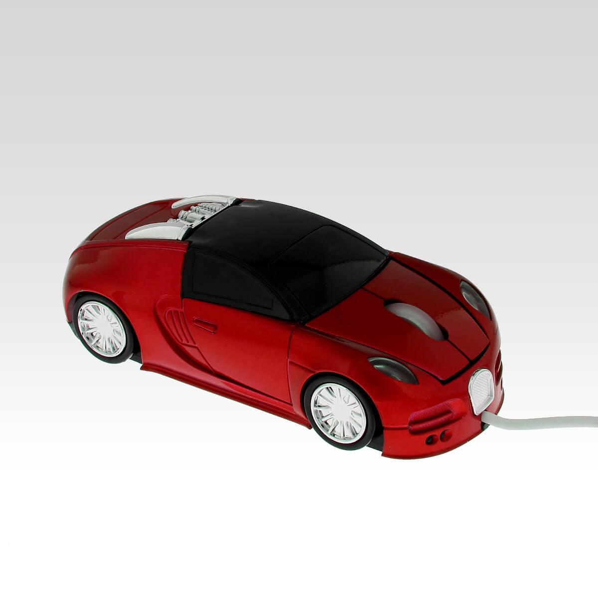 Myš k PC Bugatti červená