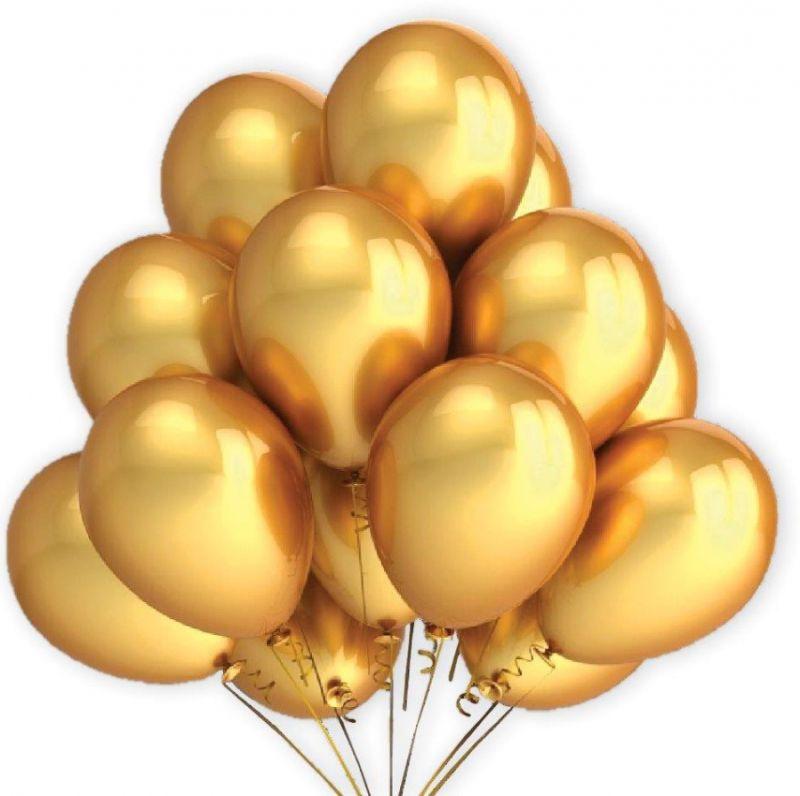 Party balonky zlaté 7 ks